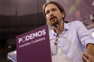 Pablo Iglesias, leader of Podemos