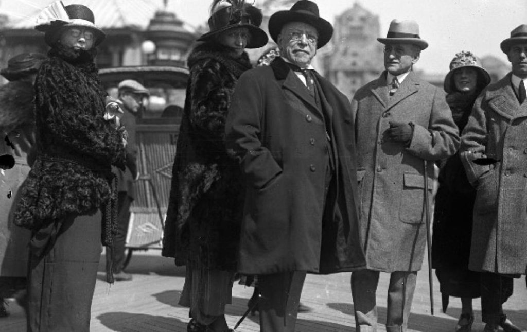 Samuel Gompers, and friends, on the Atlantic City boardwalk, 1923.